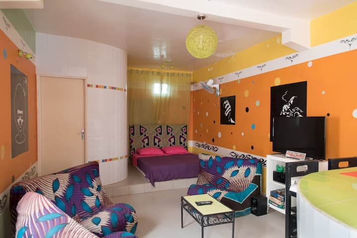 A charming furnished studio apartment