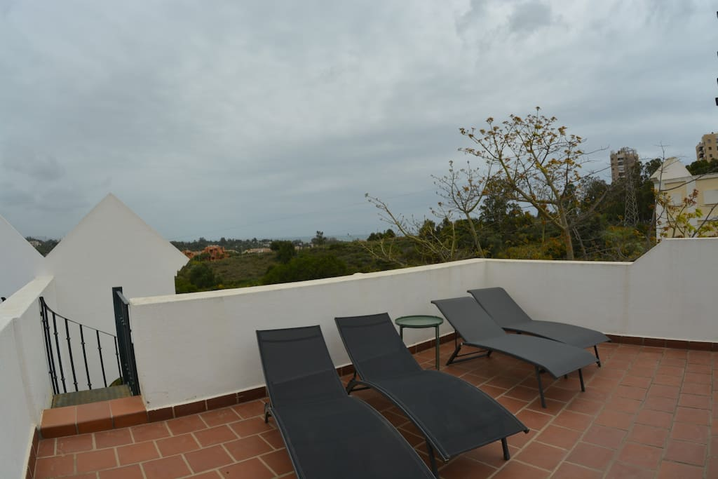roof top terrace and the sea