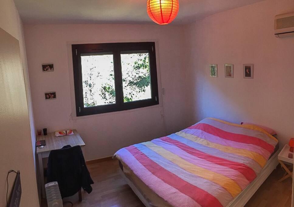 La chambre double avec  et clim