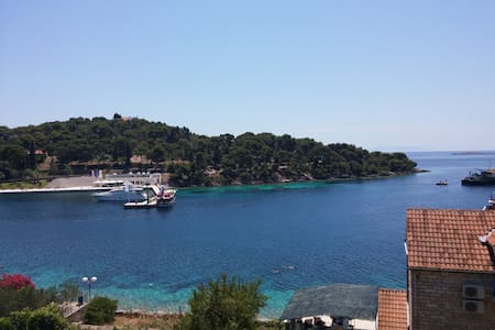 Blue Paradise with sea view - Maslinica - Pis
