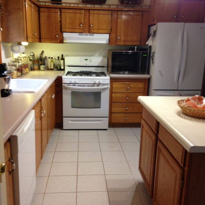 Fully equipped kitchen including dishwash, four burn gas stove and refrigerator
