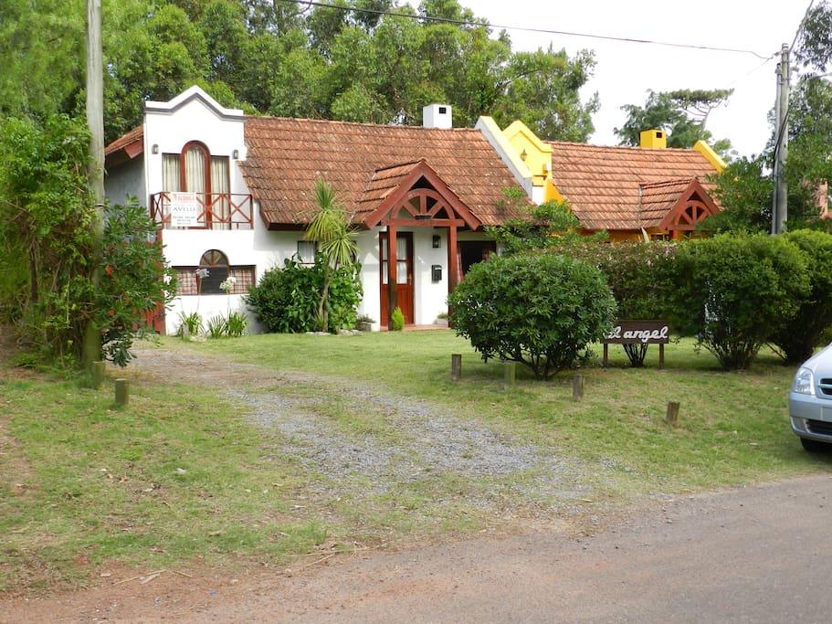 El frente de la casa