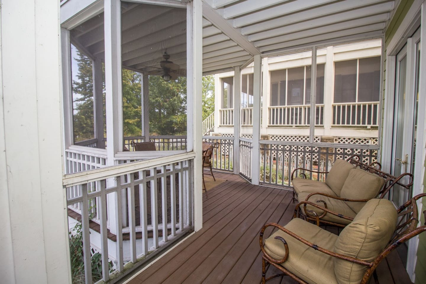 Screened in patio on all 3 levels