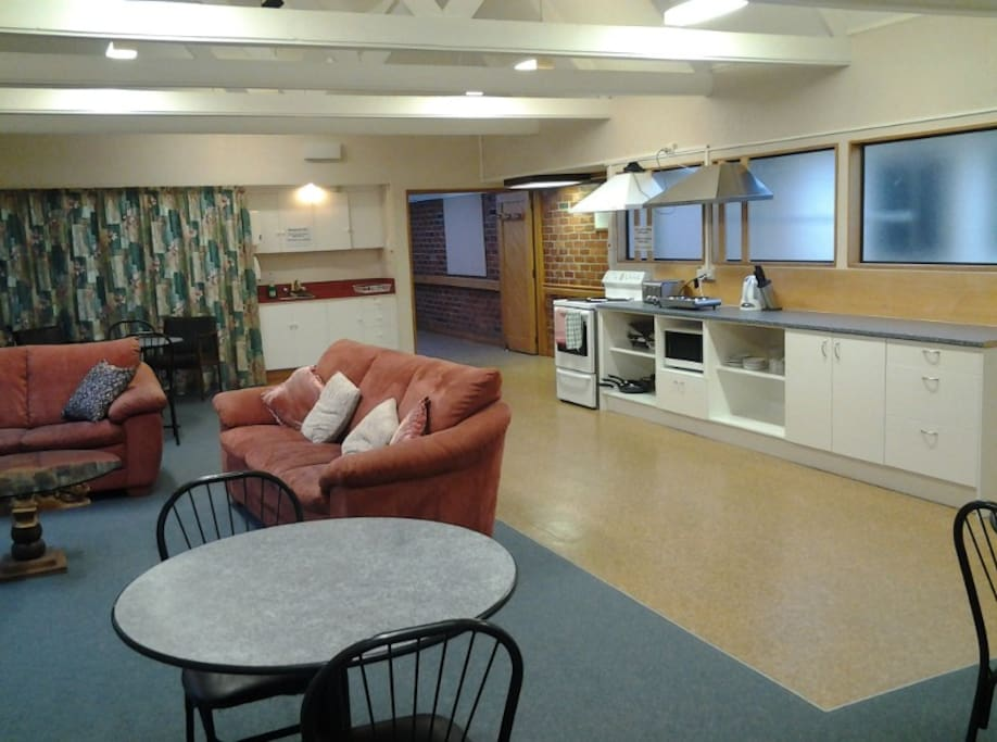 There is a well equipped communal kitchen and lounge area for guests to share.
