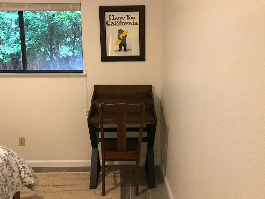 Desk available for working