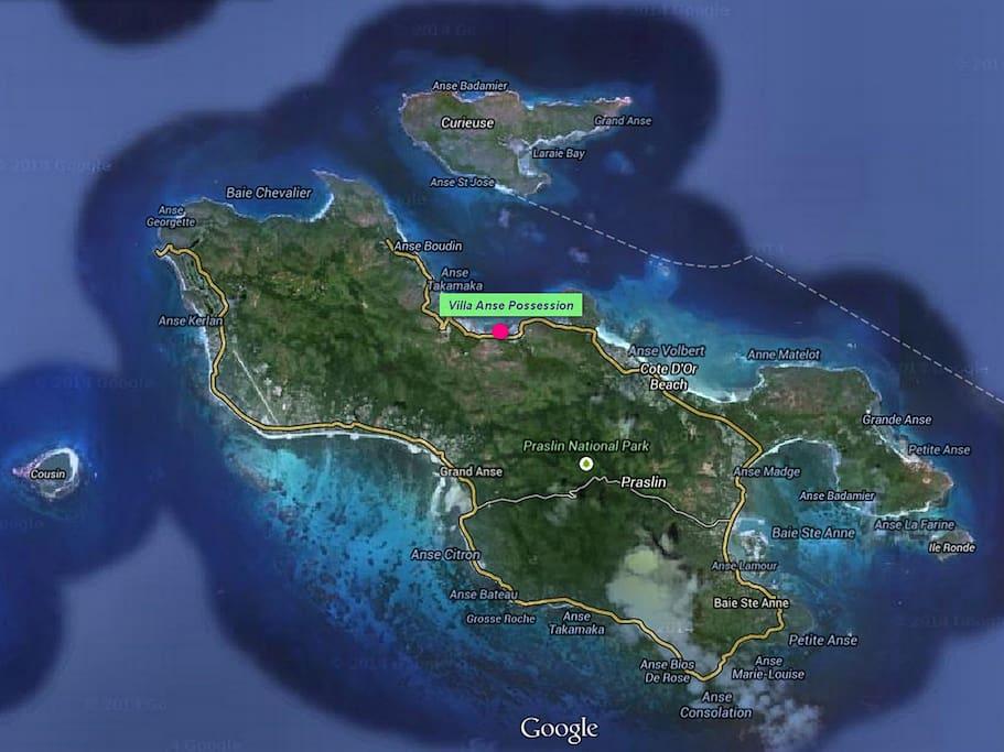 Our Position in Praslin