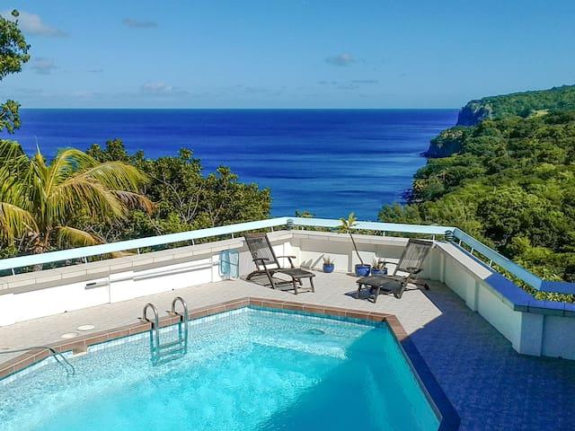 Peaceful, airy villa above beach - Woodlands - Vila