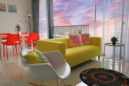 C8#水云间 lakeview 2BR quiet family suite,MINES,UPM