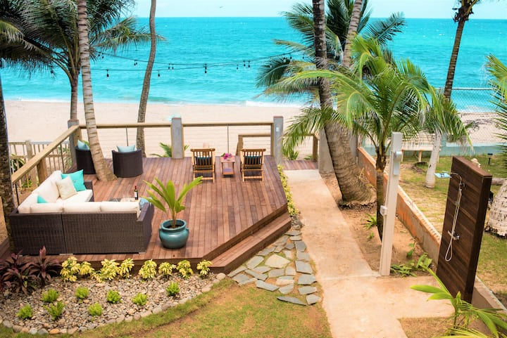 "★Beachfront★ on Famous ""Sandy Beach."" Gated Parkng"
