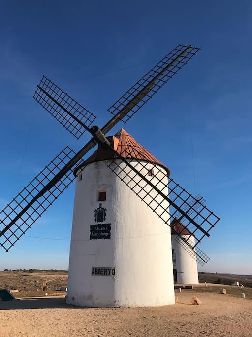 Molinos de viento de Mota del Cuervo (ruta)