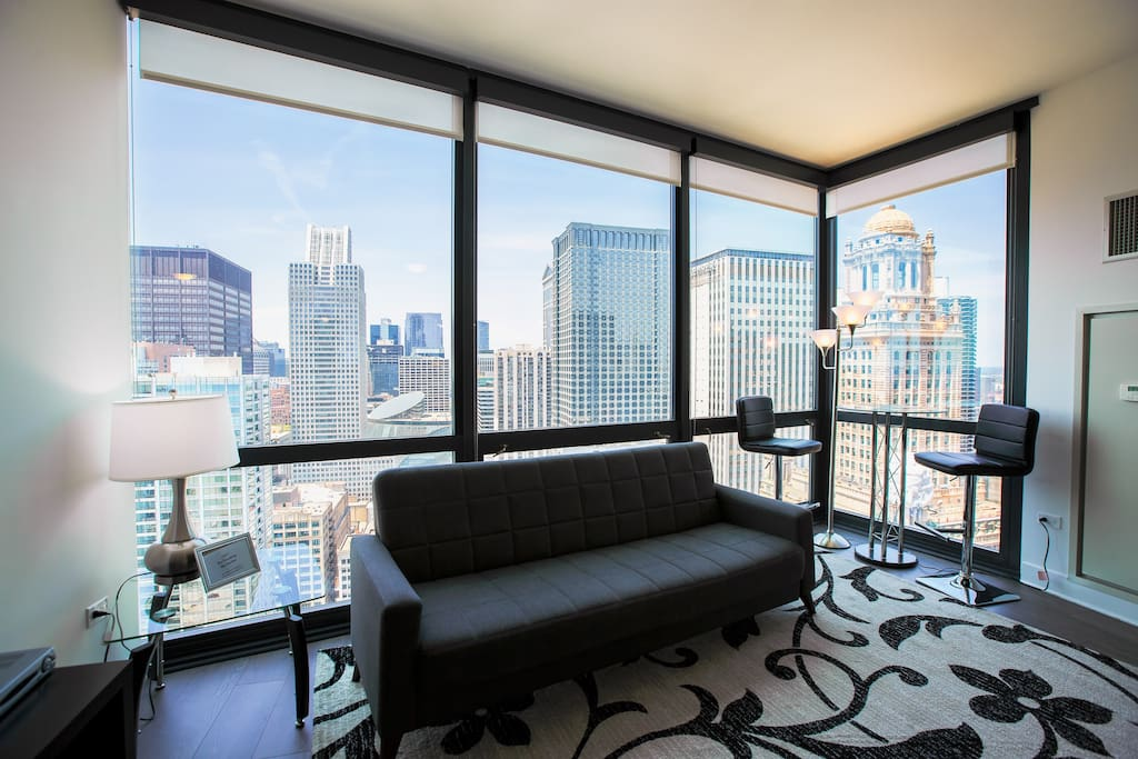 Modern 2 Bed 2 Bath Downtown Condo Chicago River Apartments For Rent In Chicago Illinois