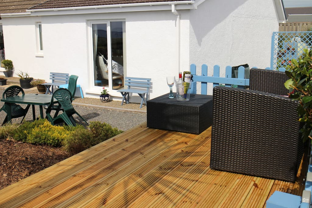 New Decking to soak up the stunning sea views