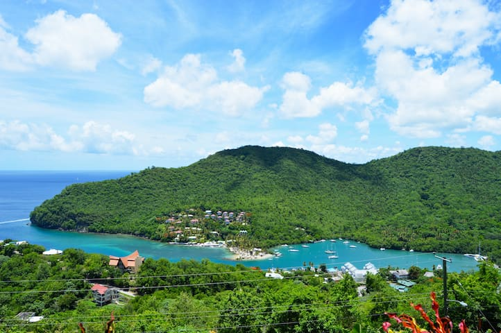 Entire View of Marigot Bay