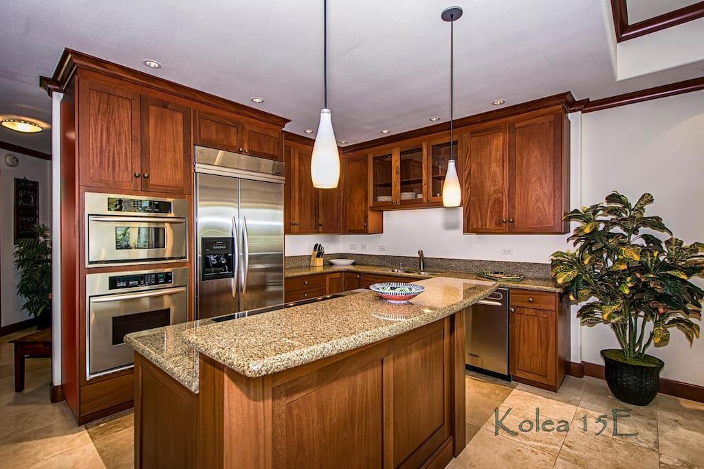 Gourmet stainless steel kitchen