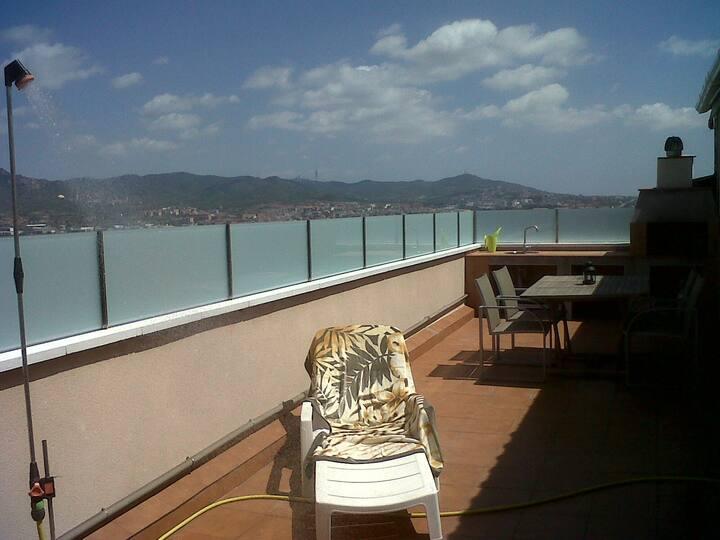 Habitación doble en Atico con terraza de 40 mts 2