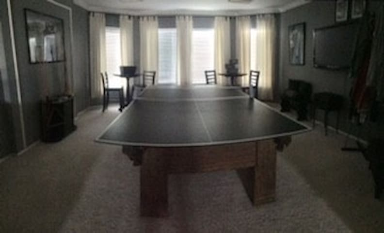 Pool/Ping Pong Game room