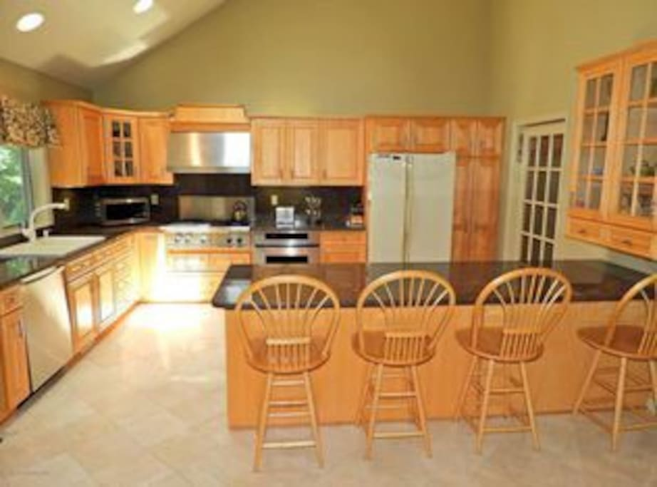Plenty of room to cook and hang out in the kitchen. A kid-favorite breakfast spot! :)
