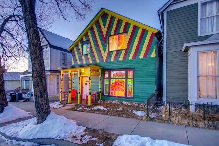 The Happy Hippie Tie Dye House - The Orange Room