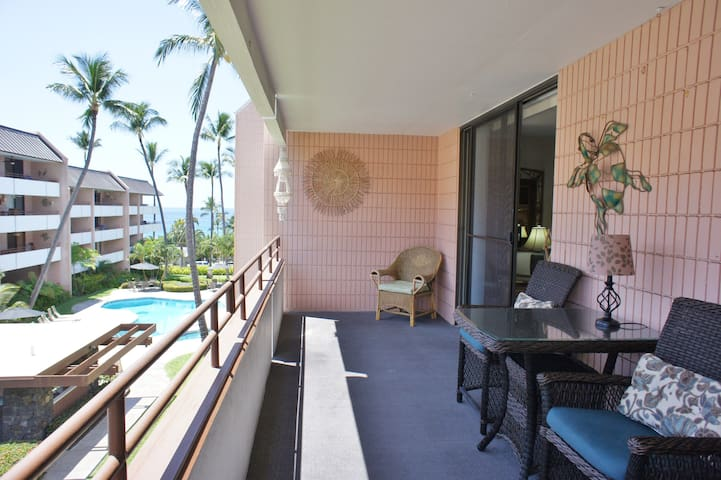 White Sands #210- 2 bed, 2 bath Ocean View - Kailua-Kona - Selveierleilighet