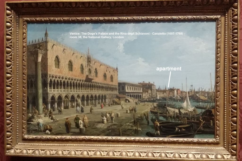 """""""Venice: The Doge's Palace and the Riva degli Schiavoni"""" by Canaletto - National Gallery, London"""