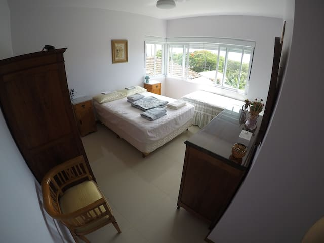 Confortable suite room at Santinho beach