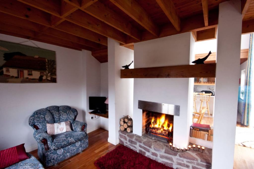Sitting Room with open Turf fire