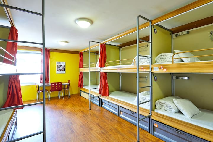 Bed in 10 Bed Dorm
