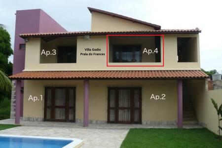 Apartamento em linda casa Praia do Frances Apt.n.4 - Marechal Deodoro