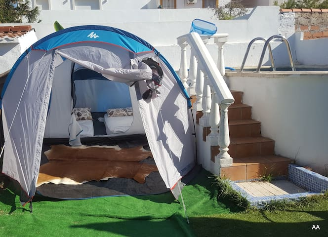 Puerto Banus TENT for 2, garden WIFI pool, parking