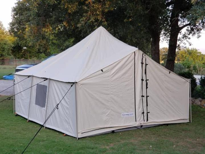 Hunting and Fishing Tent plus additional gear