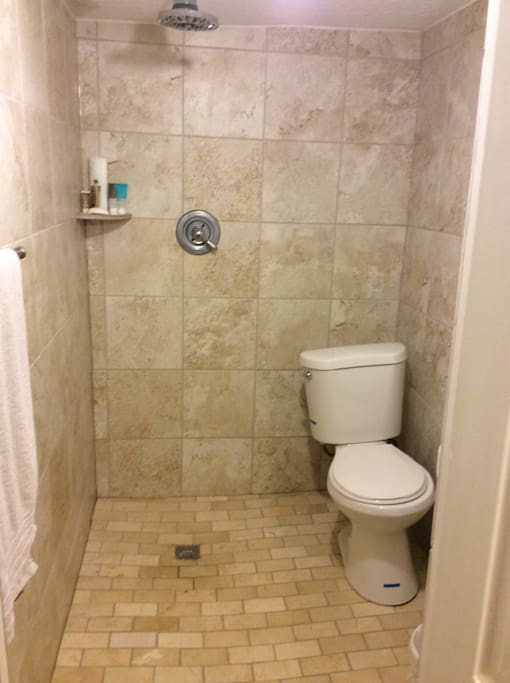 This is a brand new bathroom. Everything works great!