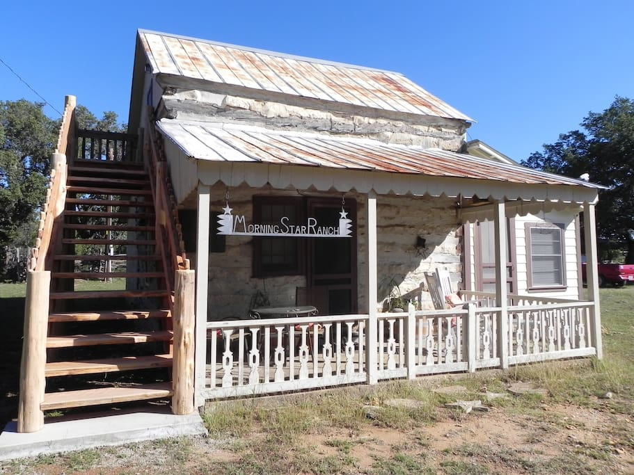 Morning star ranch guest house cabins for rent in for Cabin rentals fredericksburg tx