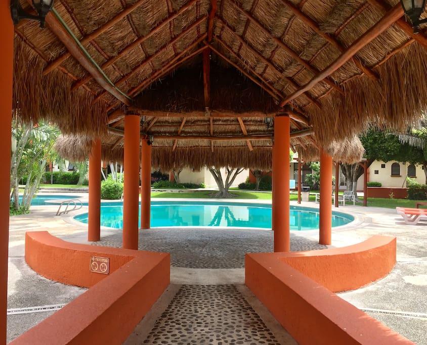 Palapa & Pool Area