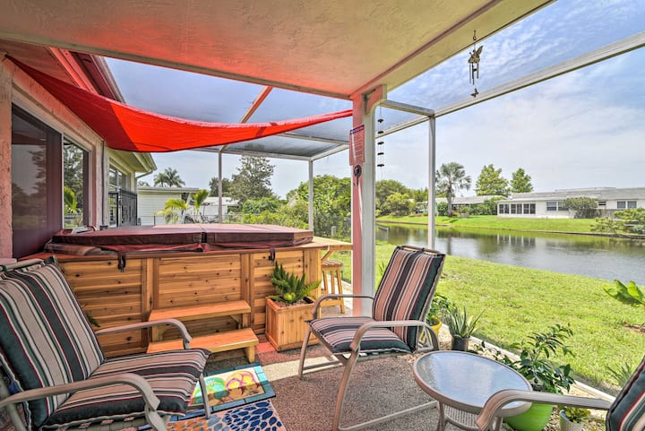 NEW! Waterfront House w/ Hot Tub + Pedal Boat!