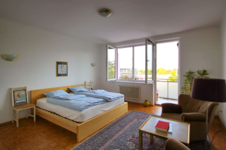 Big cosy room with balcony and view to Prater (1)