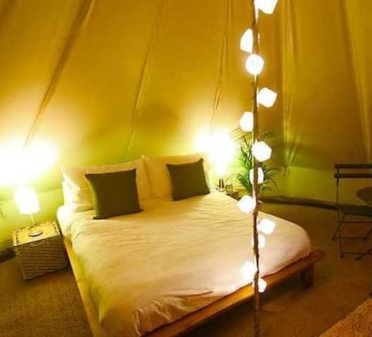 Bellbrook Eco Glamping-Bell Tent-Rural Idyll Farm - Oakford - Stan