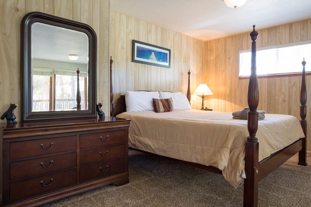 Large Master Suite Upstairs with Eastern King Four Poster Bed
