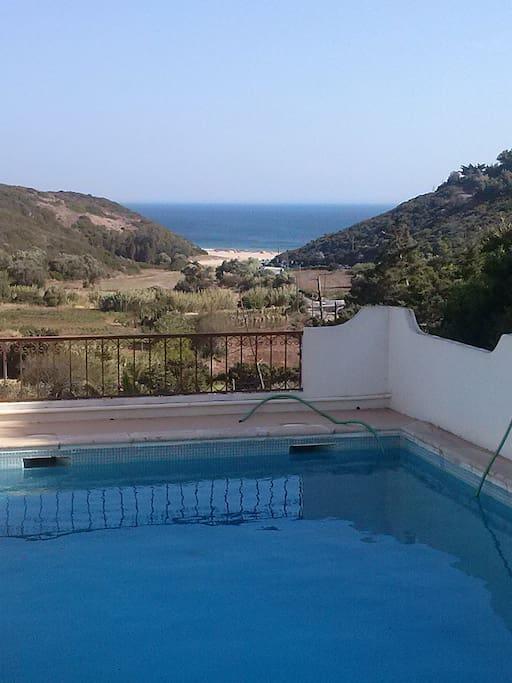 Pool and Zavial beach