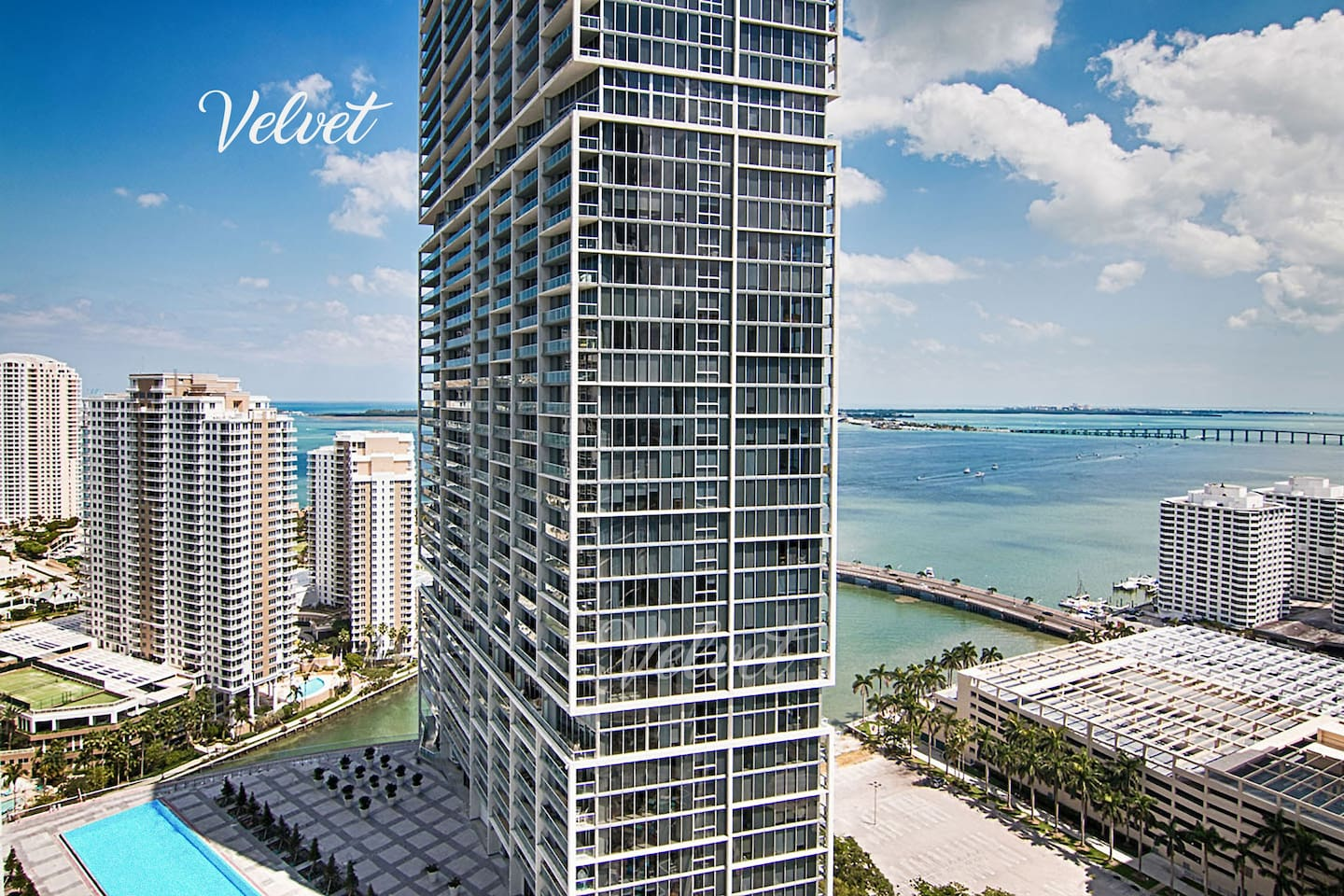 The best view in Miami!  Ocean, river and pool view in one!