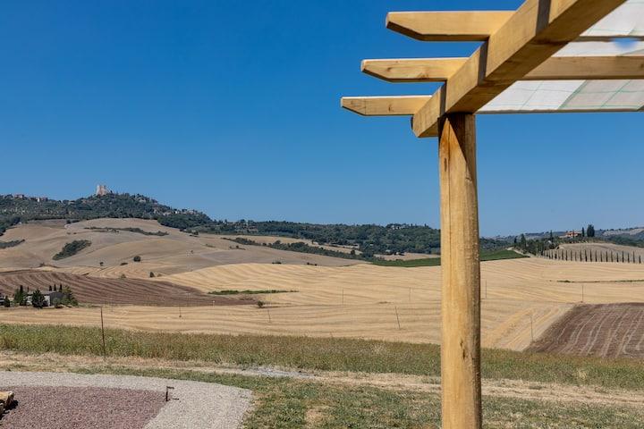 Trilocale Villa Andrea vista Val d'Orcia