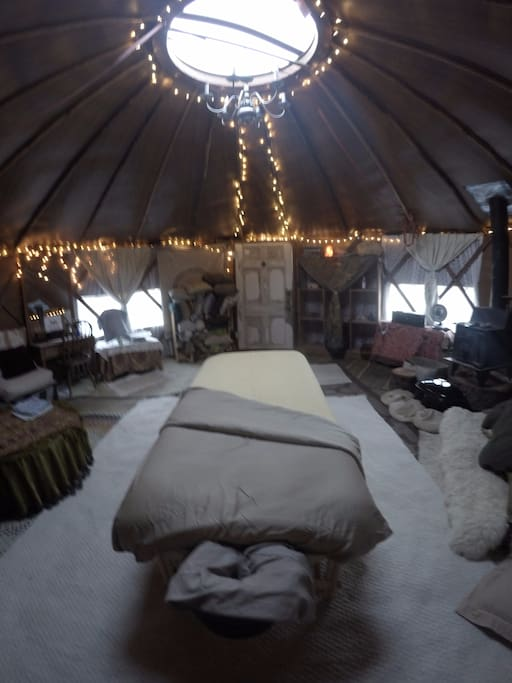 Rejuvenating therapy personal detox spa space, within a private Yurt in the Hills of Santa Cruz