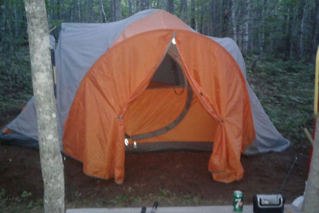 second tent on your site (2 of 2 tents). has 2 full beds with bedding & pillows.