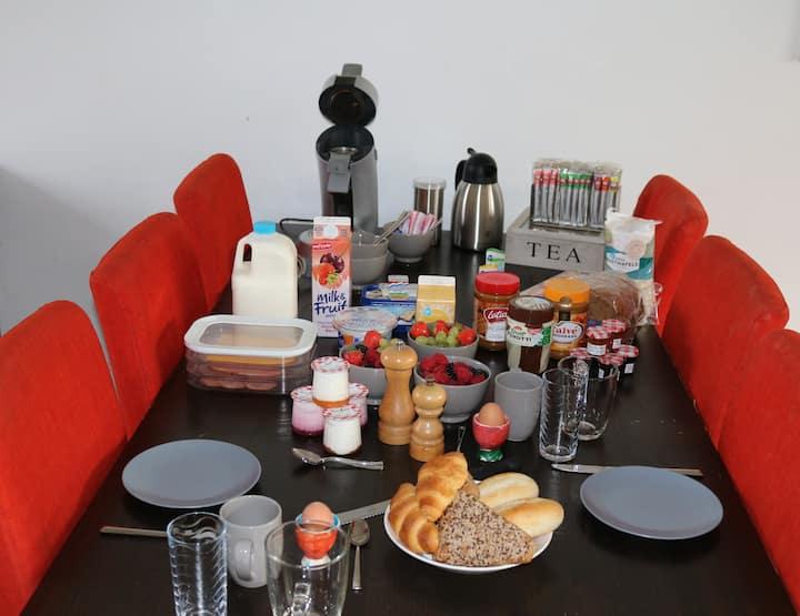 B&b met jacuzzi en luxe ontbijt