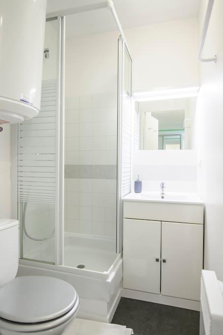 La Salle de bain propre et très fonctionnelle