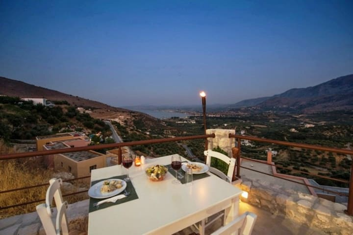 Stunning seaview apt,big shared pool,2bedrooms,bbq - Exopoli - Appartement