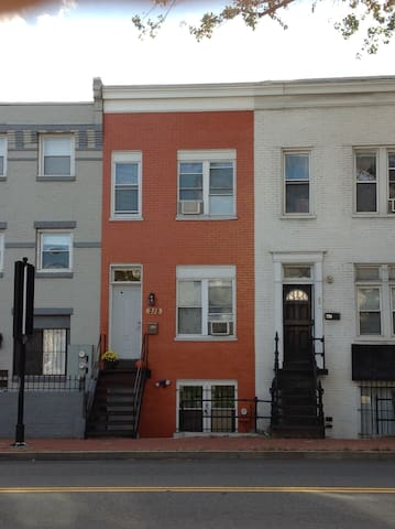 Exterior of the Airbnb property along Florida Ave NW