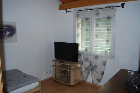 Chambre 1 lit dans villa spacieuse - Villa