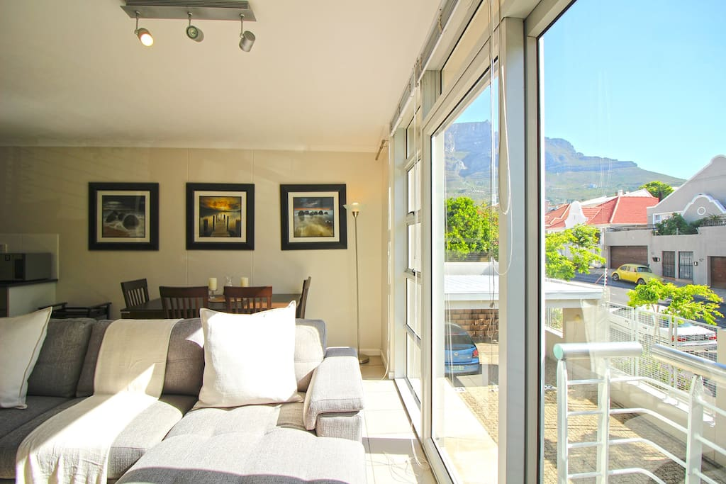Views from the living area - Table Mountain nearby