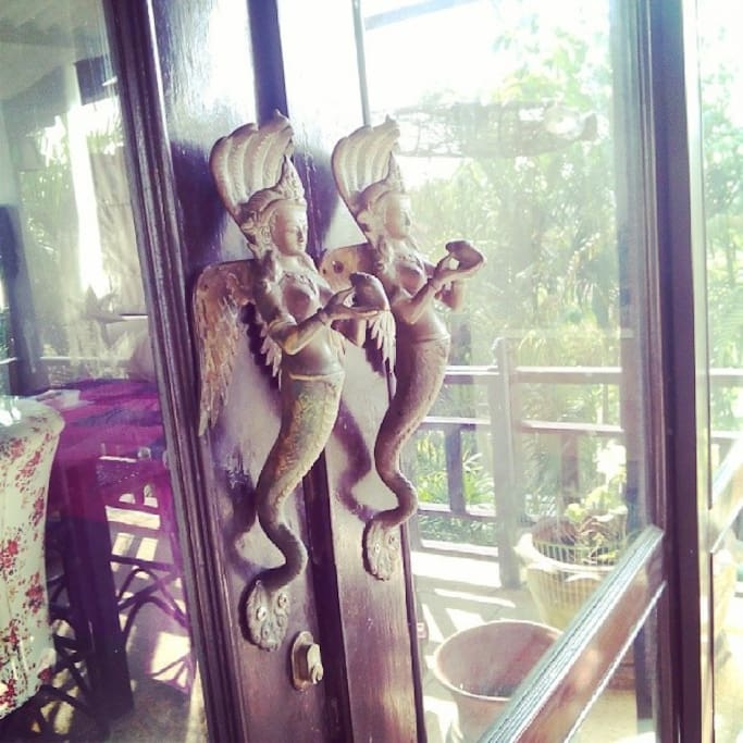 All rooms has big wide sliding doors   I'm totally in love with this Door handles from Nepal and I hope you will love them to