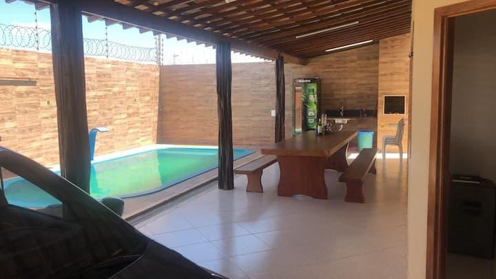 Casa com piscina na praia das Emanoelas emTibau-RN